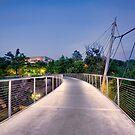 Footbridge at Falls Park by Brent Craft