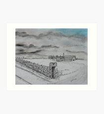 Stockbridge Fence Art Print