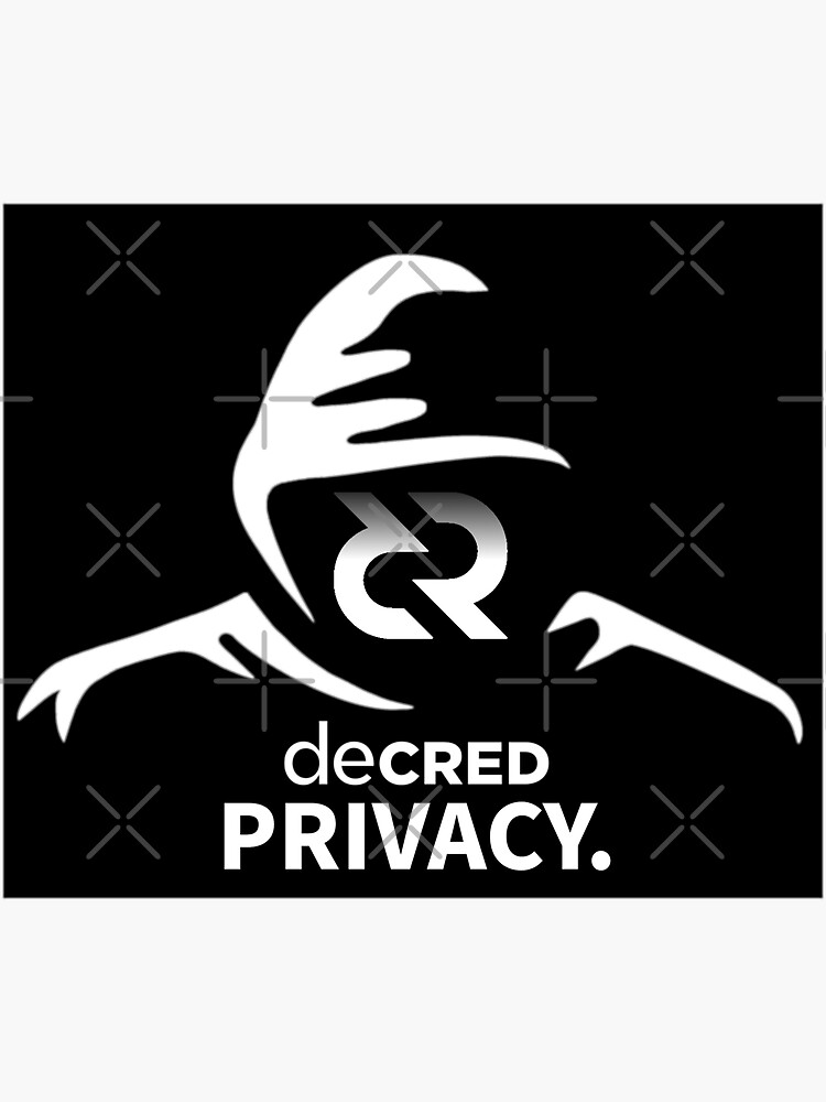 (sticker) Decred privacy ™ v2 'Design timestamped by https://timestamp.decred.org/' by OfficialCryptos