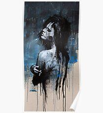 GIRL SMOKING BLUES Poster