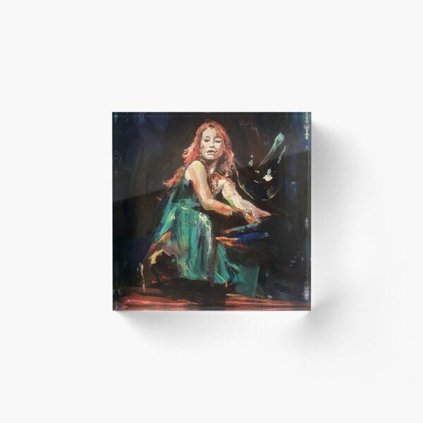 Piano Woman full flow Acrylic Block