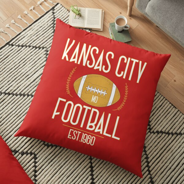 Kansas City 2020,Vintage KC Football Missouri Retro Gift Floor Pillow