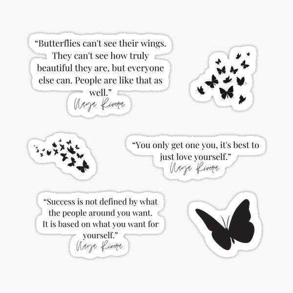 Naya Rivera Quotes Set Sticker