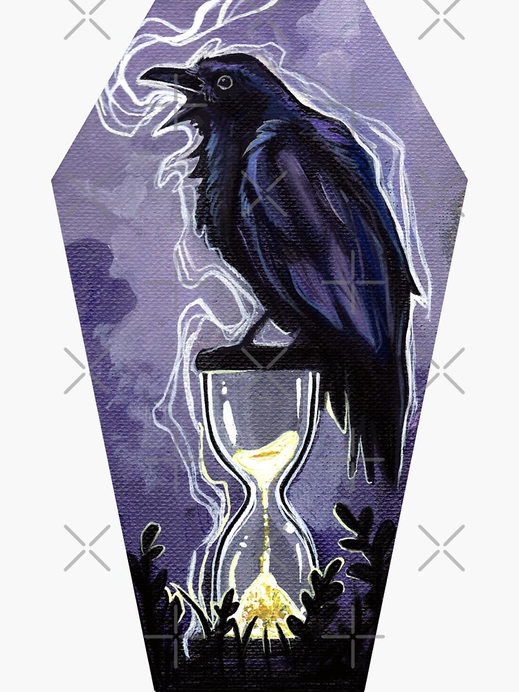 Raven and the hourglass coffin by ArtOfBianca
