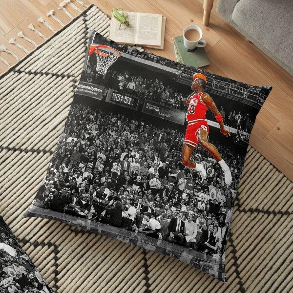 Toile d'art de mur d'affiche de Michael Jordan Dunk   Tristement célèbre ligne de lancer gratuit Dunk Coussin de sol