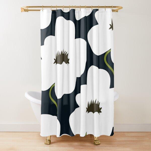 B & W finnische Blume Duschvorhang