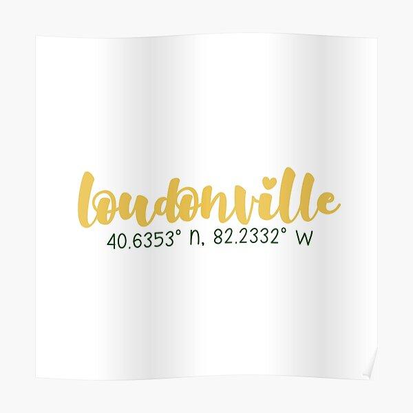 Loudonville coordinates Poster