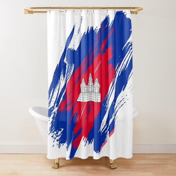 Kingdom of Cambodia | ព្រះរាជាណាចក្រកម្ពុជា | Royaume du Cambodge Shower Curtain