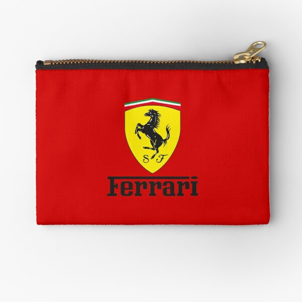 Ferrari logo shield black Zipper Pouch