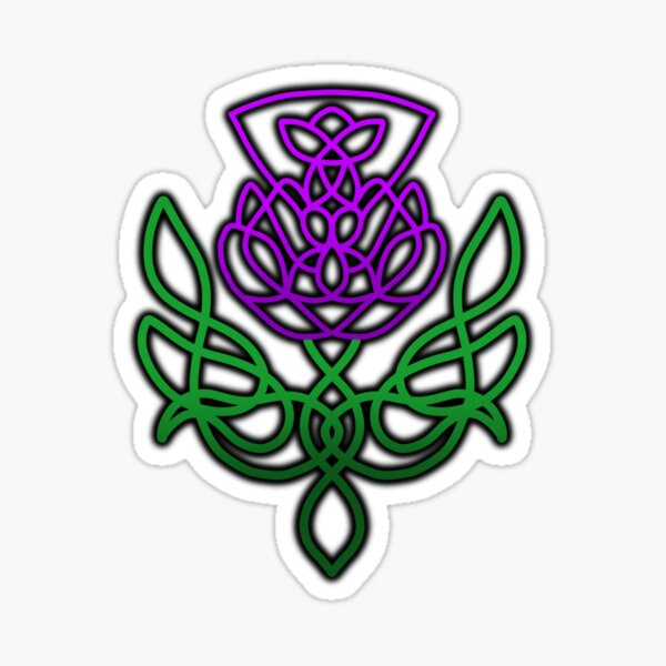 Celtic Thistle  Sticker