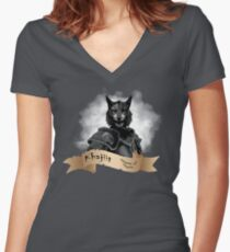 Khajiit Women's Fitted V-Neck T-Shirt