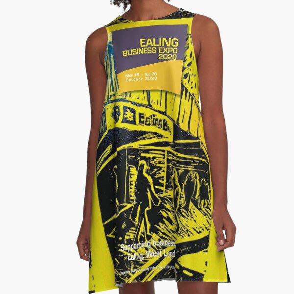 Support EalingBizExpo 2020 - Ealing Broadway linoprint A-Line Dress