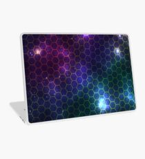 Hexagon pattern space effect Laptop Skin