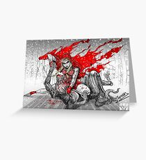 Red Knee-Ride Hood Greeting Card