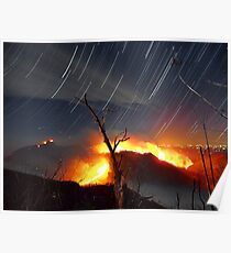 The Table Rock Wildfire Star Trail Poster