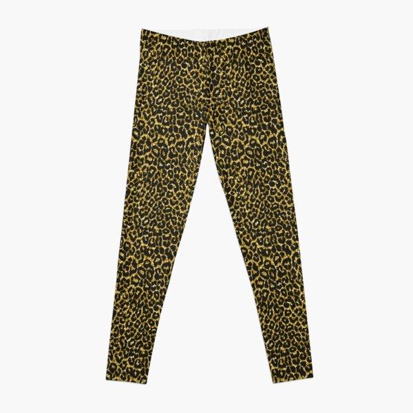 Patterns: Leopard Print Design - Gold Brown and Black Leggings