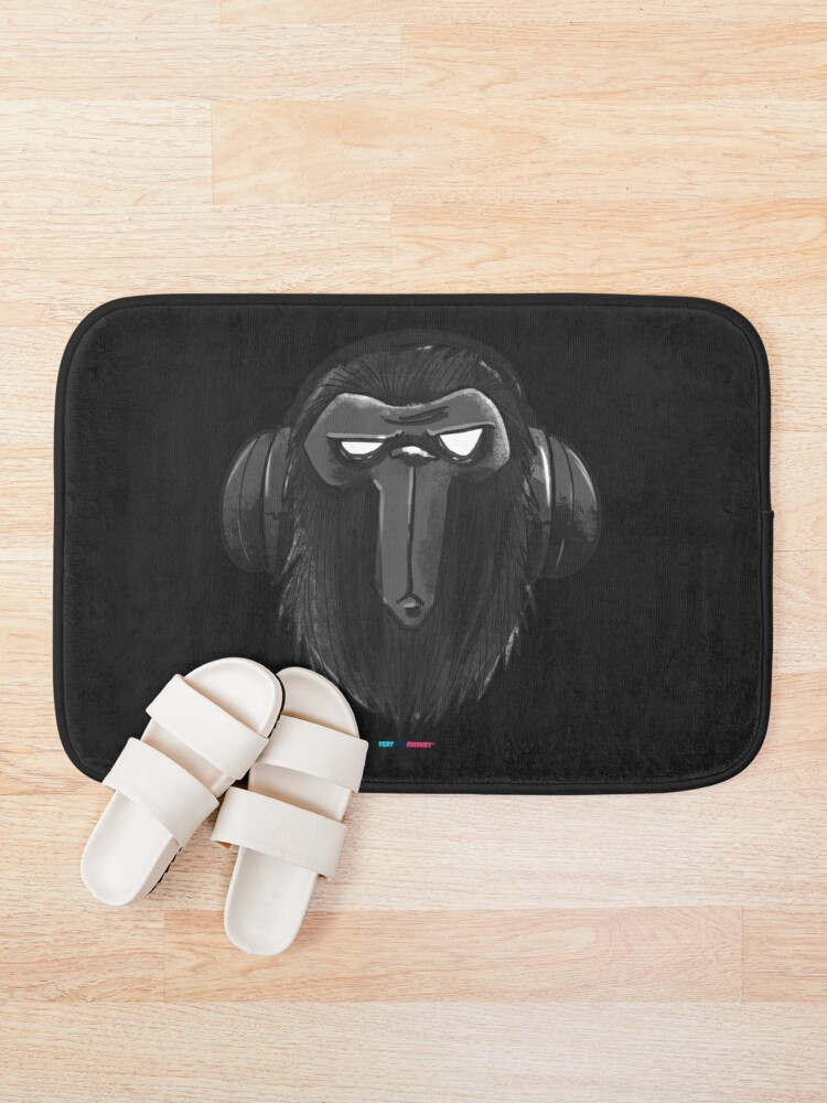 Vista alternativa de Alfombra de baño SuperMonkey by Fran Ferriz