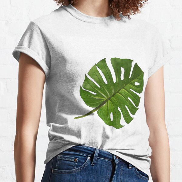 Large Monstera Print Classic T-Shirt