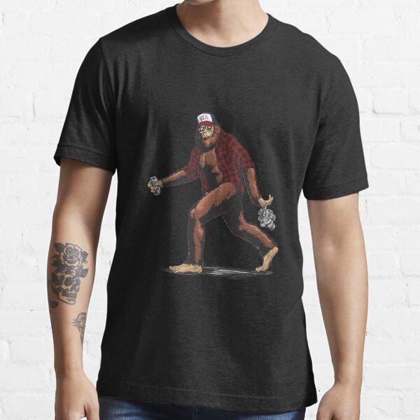 Walking USA American hillbilly Sasquatch Essential T-Shirt