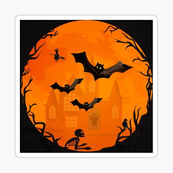 Spooky Halloween Bats Cheeky Witch® Sticker