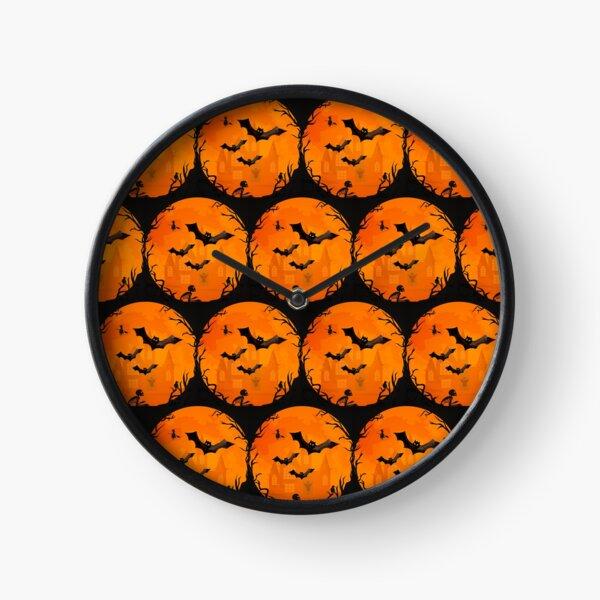 Spooky Halloween Bats Cheeky Witch® Clock