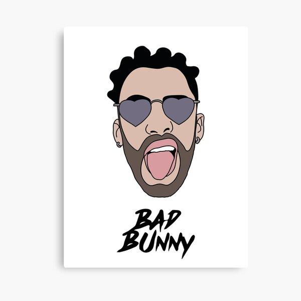 Bad Bunny Illustration Yo Perreo Sola J Balvin Svg Canvas Print By Maddyartist Redbubble