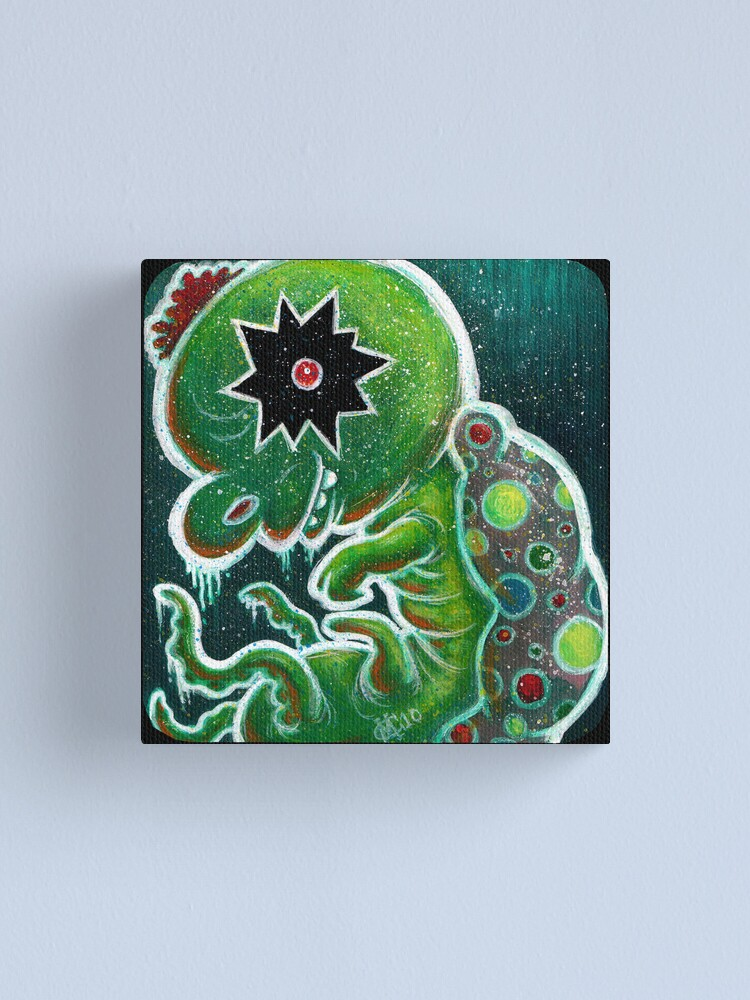 Alternate view of GloWyrm Canvas Print