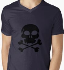 SKULL AND CROSSBONES by Zombie Ghetto Men's V-Neck T-Shirt