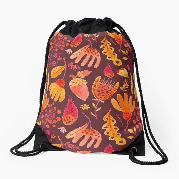 Herbst Blätter Natur Muster Turnbeutel
