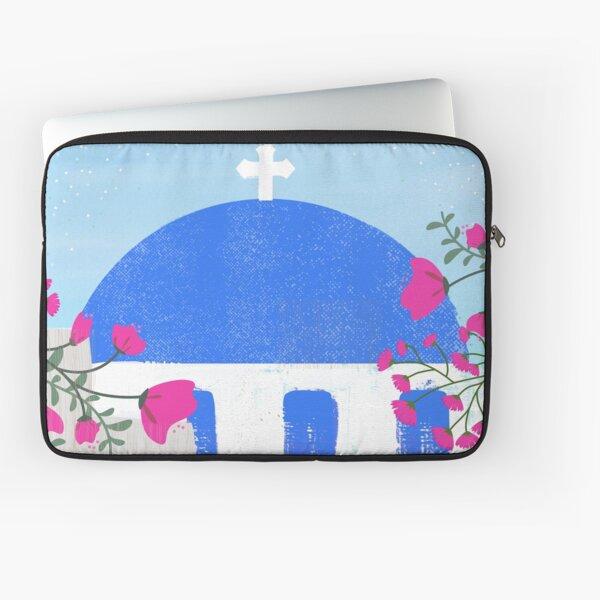 #2 Oia Santorini Blossom, Greece Laptop Sleeve