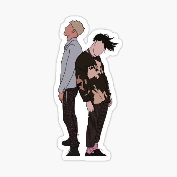 The Boys Are Back Sticker