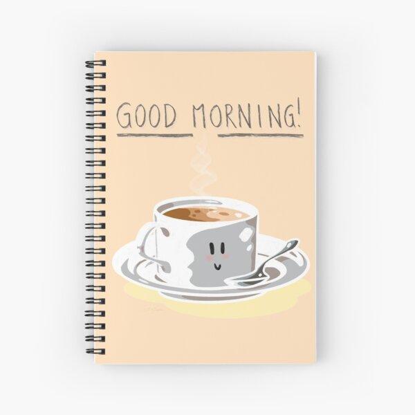 Good Morning! (Peach Puff) Spiral Notebook