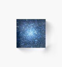 ONE Blue Star Cluster | Fresh Universe Acrylic Block