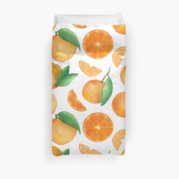 Watercolour Orange Fruit Pattern Duvet Cover