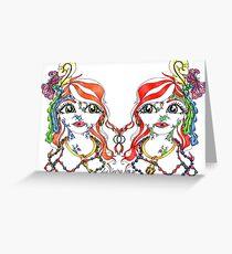 Mirror Twins Greeting Card