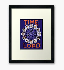 Time Lord - doctor who Framed Print
