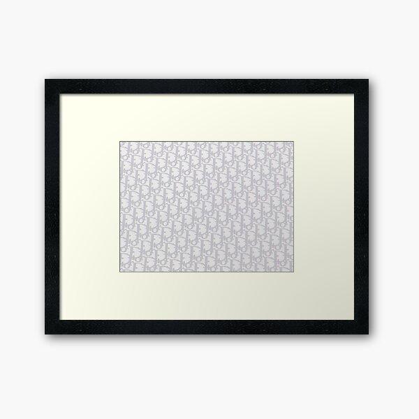 """Luxe Oblique Monogram """"Dio"""" Gerahmter Kunstdruck"""