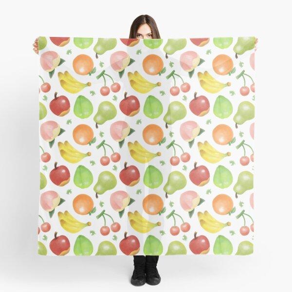 Adorable Watercolour Fruit Pattern Scarf