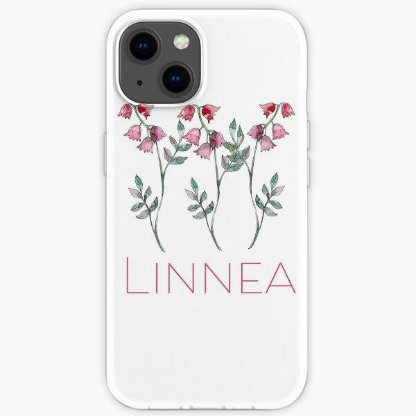 Nordic Wildflower Linnea Twinflower Pretty Pink Flowers floral iPhone Soft Case
