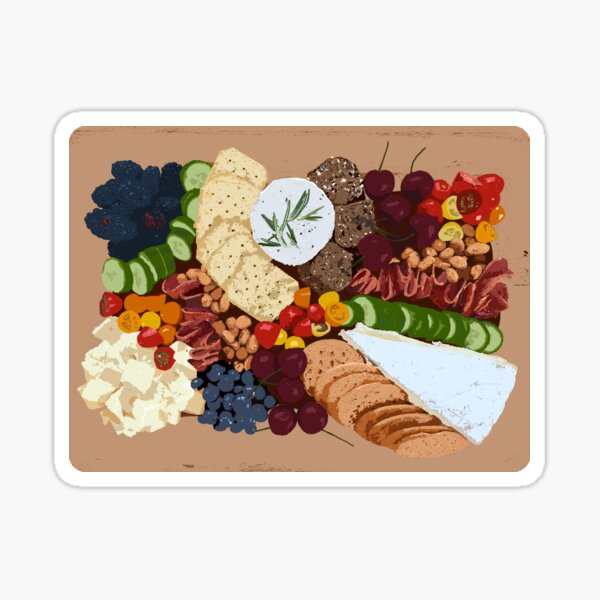 Charcuterie Board Graphic Drawing Sticker