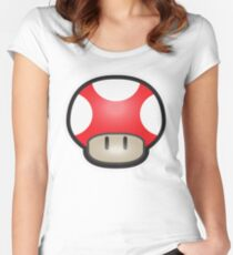 Mushroom-Red Women's Fitted Scoop T-Shirt