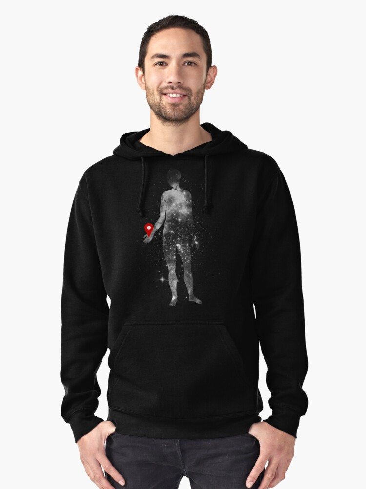 Where Are We Now Pullover Hoodie Front
