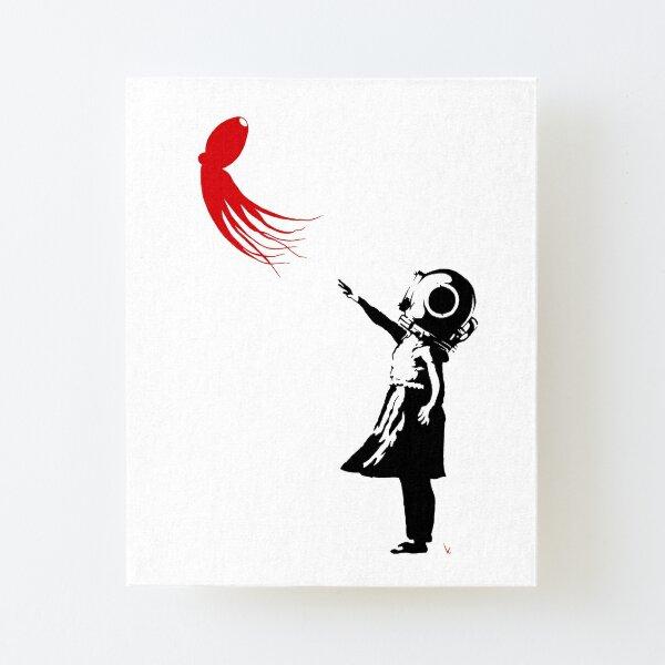 Girl with Octopus Impression montée sur toile