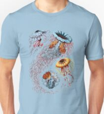 Colourful Jellyfish Marine Animals Illustration Vintage Dictionary Book Page,Discomedusae T-Shirt