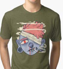 ciggie butt brain Tri-blend T-Shirt
