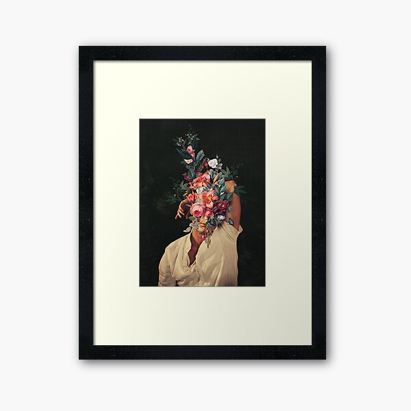 Roses Bloomed every time I Thought of You Framed Art Print