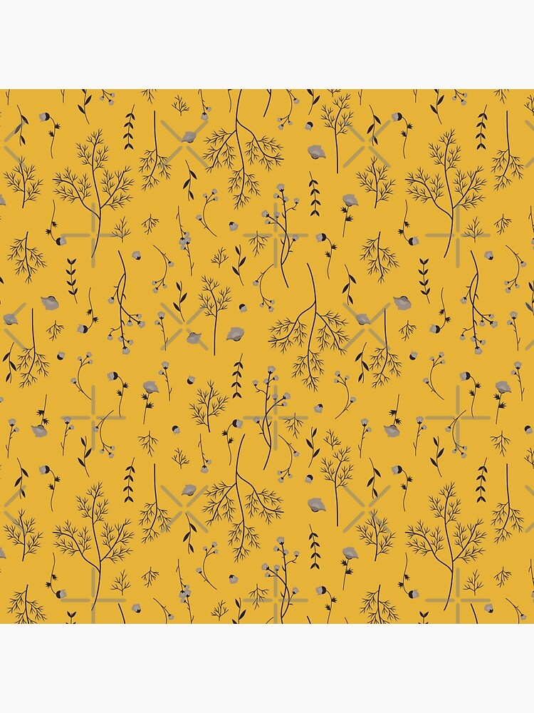 Mustard Yellow Spring Flower Pattern by szymonkalle