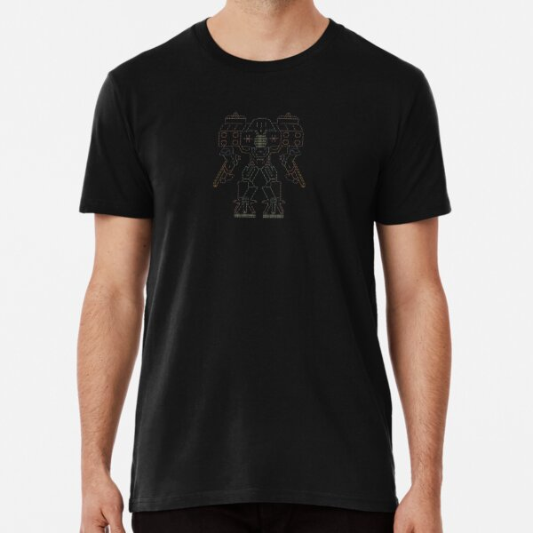 Robot — Amava — High Quality Ascii Art Premium T-Shirt
