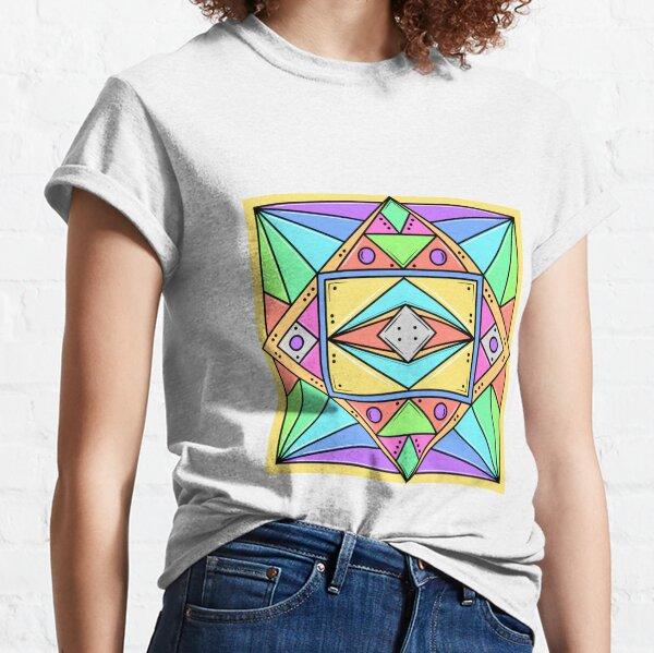 Geometric Design Neon Colours Classic T-Shirt