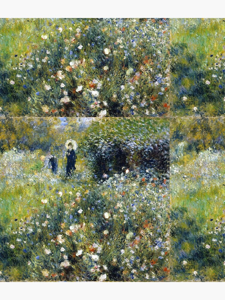 Woman with umbrella in a garden, Pierre-Auguste Renoir by fourretout